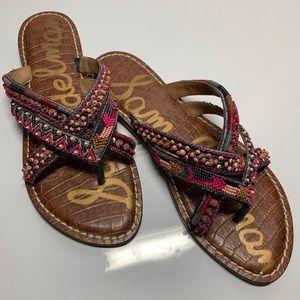 Sam Edelman Bead & Sequin Embellished Sandal